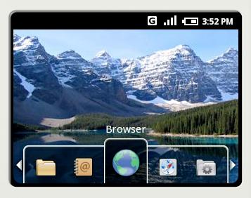 L'écran principal d'Android